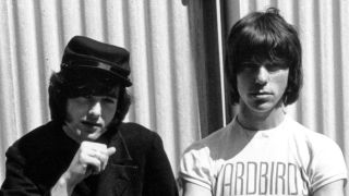 Jimmy Page and Jeff Beck pose together with The Yardbirds in summer 1966