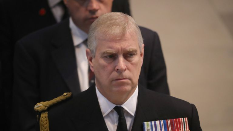 MANCHESTER, ENGLAND - JULY 01: Prince Andrew, Duke of York, attends a commemoration service at Manchester Cathedral marking the 100th anniversary since the start of the Battle of the Somme. July 1, 2016 in Manchester, England. Services are being held across Britain and the world to remember those who died in the Battle of the Somme which began 100 years ago on July 1st 1916. Armies of British and French soldiers fought against the German Empire leading to over one million lives being lost. (Photo by Christopher Furlong - WPA Pool/Getty Images)