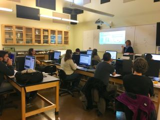 NASA research scientist Cindy Schmidt teaches a remote sensing workshop held with the Samish Indian Nation in what's often called Washington.