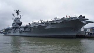 The Intrepid Sea, Air and Space Museum is based on the former Intrepid aircraft carrier docked in New York City.