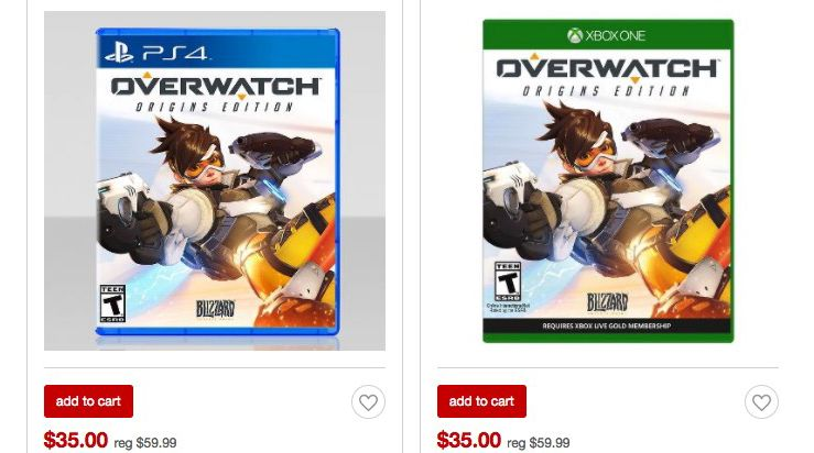 overwatch origins for ps4 xbox one and pc is 25 off for black
