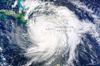 Hurricane Matthew Over Haiti, Dominican Republic