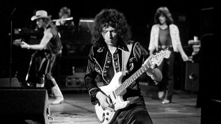 Ritchie Blackmore onstage with Rainbow