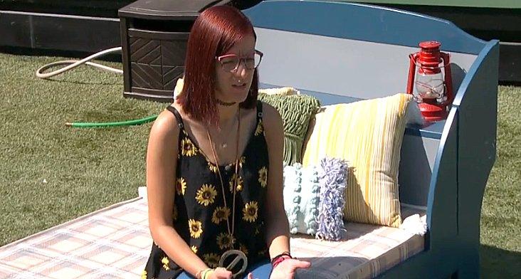 Big Brother 21 Nicole with Veto talking through Veto Ceremony speech CBS