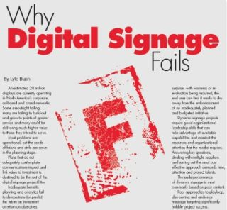 WHY DIGITAL SIGNAGE FAILS