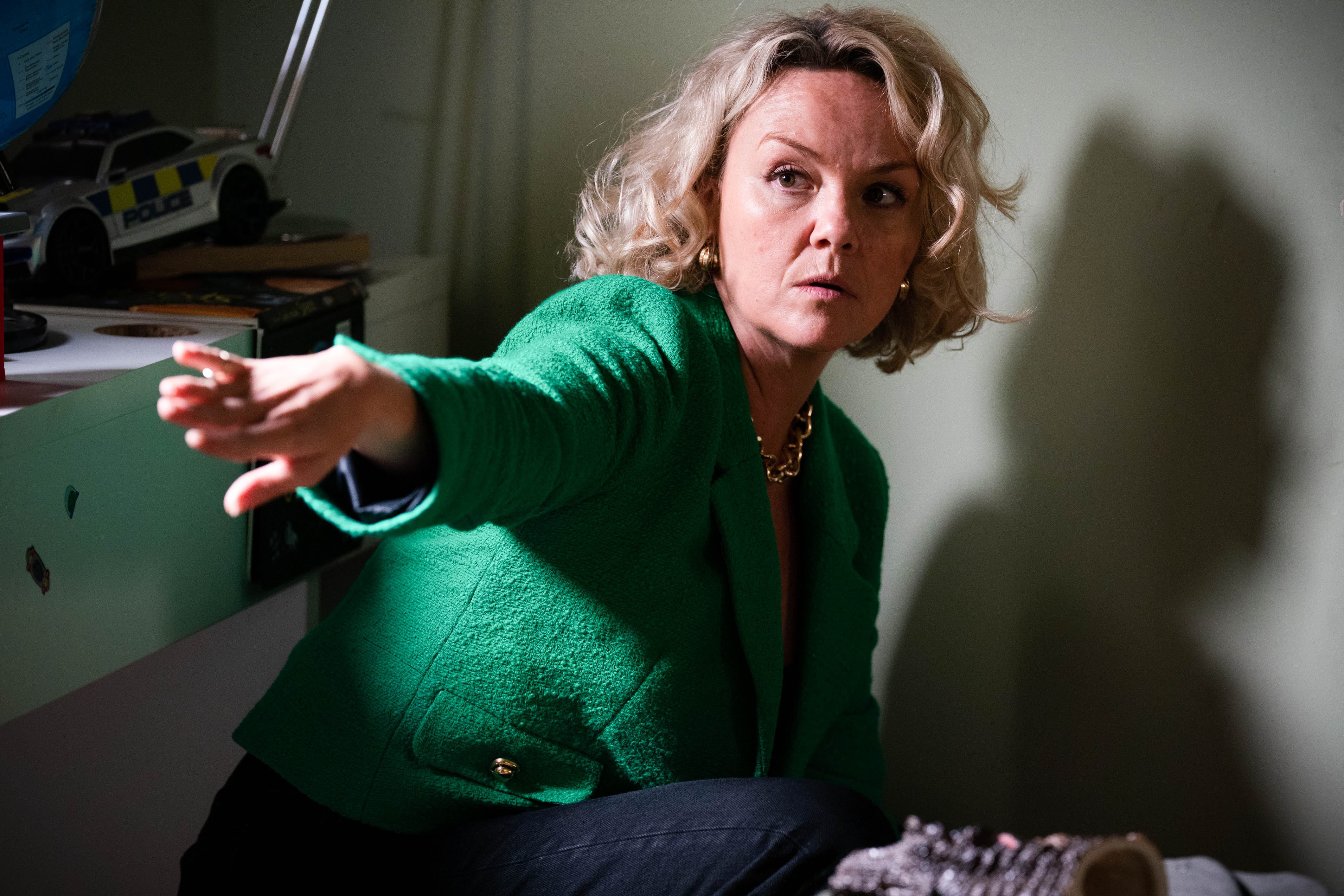 Janine Butcher is trapped in EastEnders