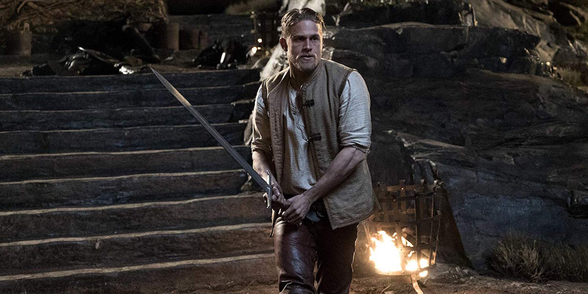 Charlie Hunnam as King Arthur in Legend of the Sword
