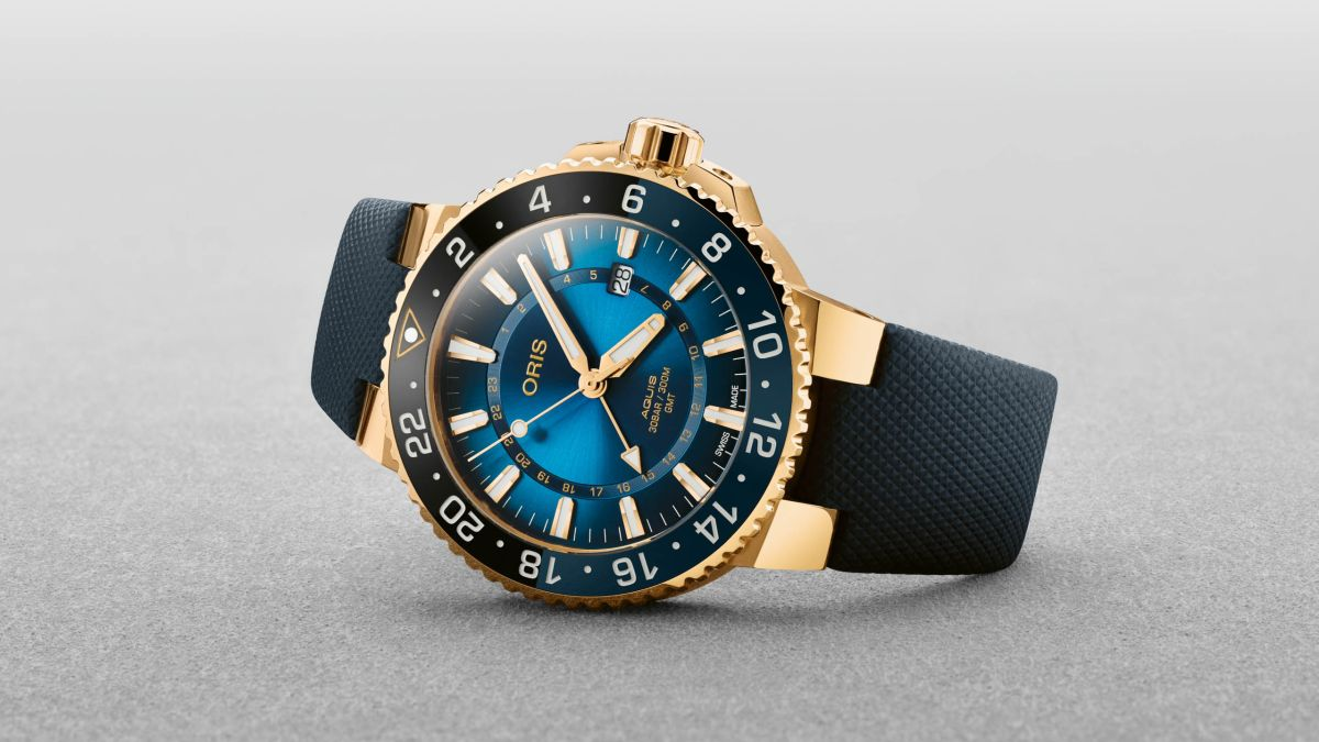 First-ever gold Oris diver's watch is also a bid to save coral reef