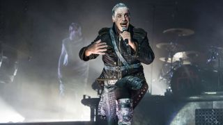Rammstein's Till Lindemann at Download Festival in 2016