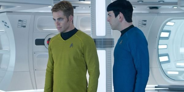 Kirk and Spock in Star Trek Into Darkness