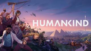 Humankind characters and logo key art