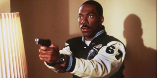 Axel Foley (Eddie Murphy) looks shocked in Beverly Hills Cop III (1994)