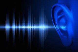 Conceptual image of human hearing.