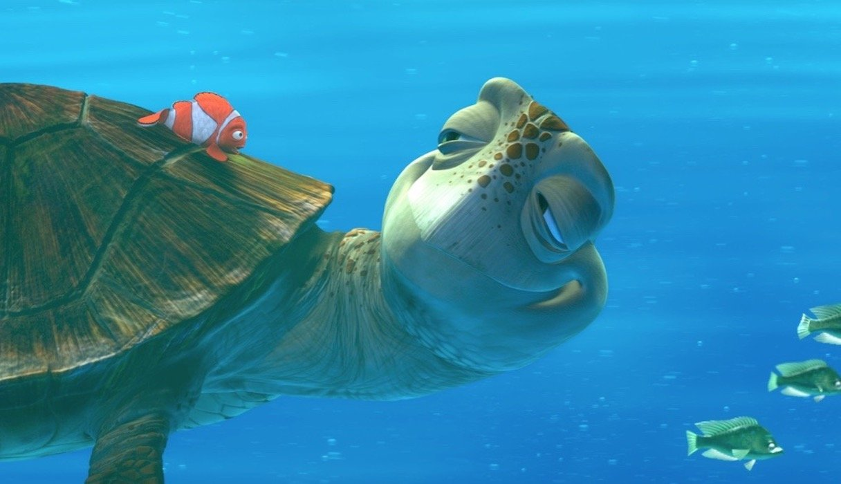 Marlin and Crush in Finding Nemo