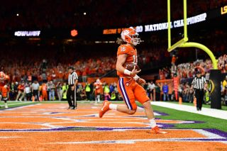 Trevor Lawrence (16) of the Clemson University Tigers during the 2020 CFP National Championship (Photo by Phil Ellsworth / ESPN Images)