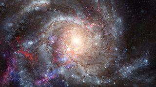 Spiral galaxy conceptual image.