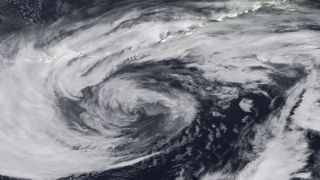 A hurricane-force storm hits Alaska on Feb. 14, 2012.