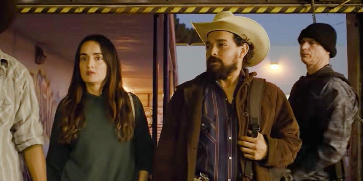 Alejandro Edda (right) beside Ana de la Reguera in The Forever Purge.