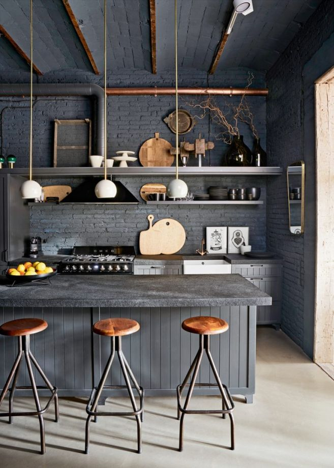 Peachy 20 Seriously Striking Chic And Contemporary Grey Kitchen Ideas Lamtechconsult Wood Chair Design Ideas Lamtechconsultcom