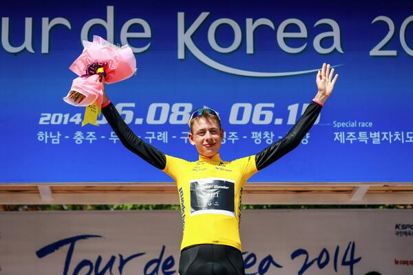 Hugh Carthy in race lead, Tour of Korea 2014 stage seven