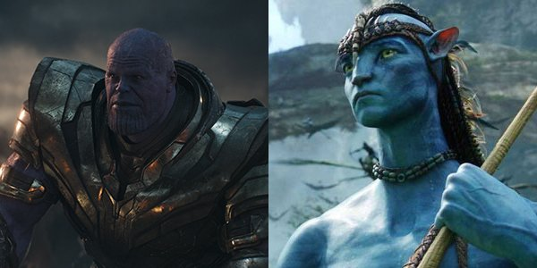 Thanos in Avengers: Endgame and Jake Sully in Avatar