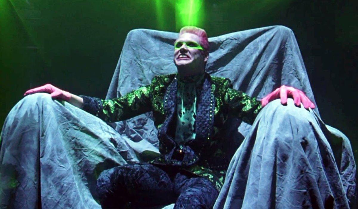 Batman Forever The Riddler on his throne