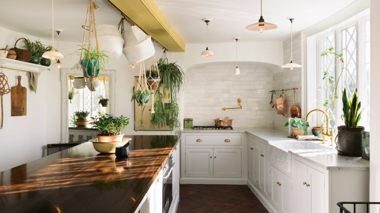 Classic kitchen by deVOL in white with kitchen island