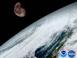 GOES-16 Earth & Moon