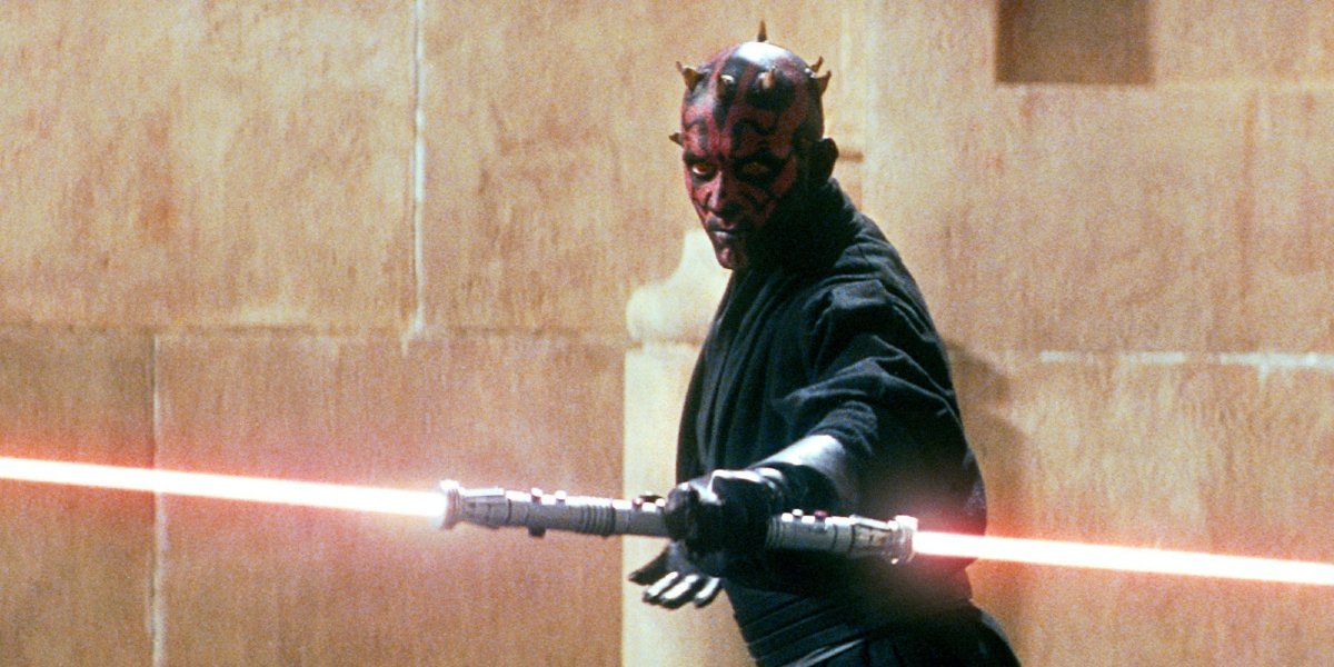 Star Wars: Episode I - The Phantom Menace Darth Maul with his lightsaber in hand