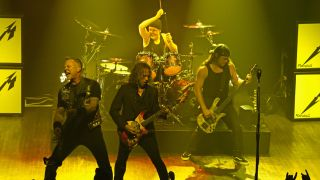 Metallica onstage at New York's Webster Hall