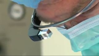 A doctor wore Google Glass during surgery.