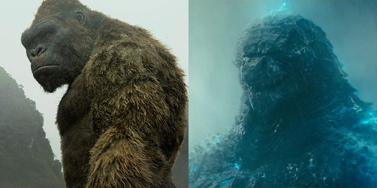 King Kong and Godzilla face off