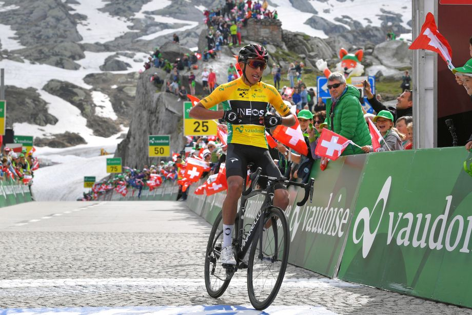 Egan Bernal takes stage seven summit victory as he extends overall lead at the Tour de Suisse