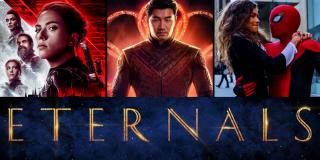 Black Widow, Shang-Chi, Spider-Man and Eternal's mashup