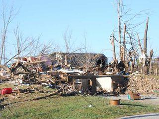 Tornado damage on March 2, 2012