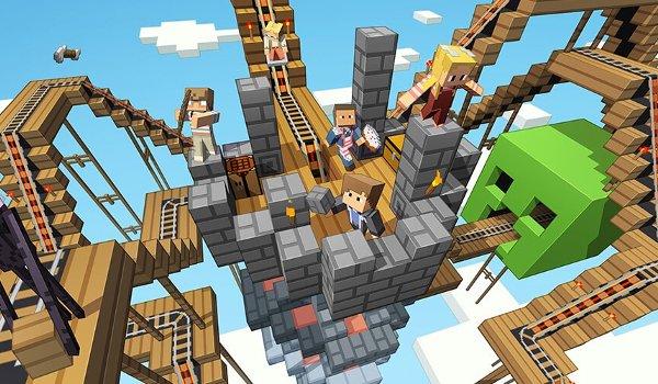 Minecraft sky maze