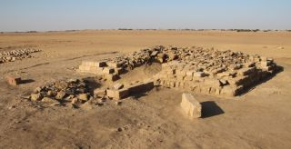 One of 16 pyramids uncovered in a cemetery in the ancient town of Gematon in Sudan.