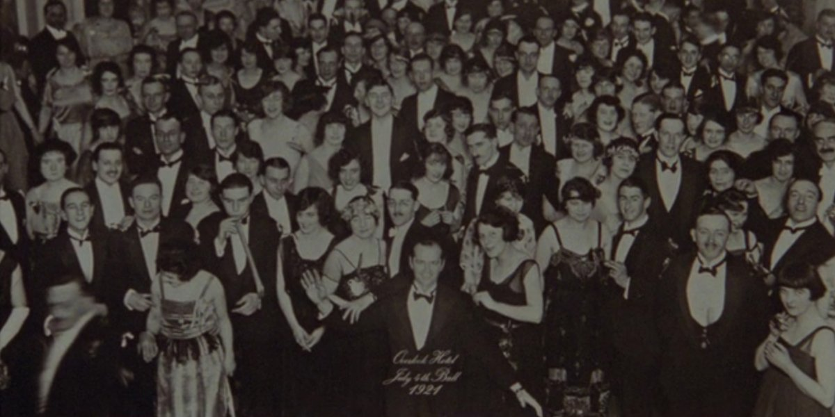 Jack Nicholson as Jack Torrance in July 4th Ball photo in The Shining