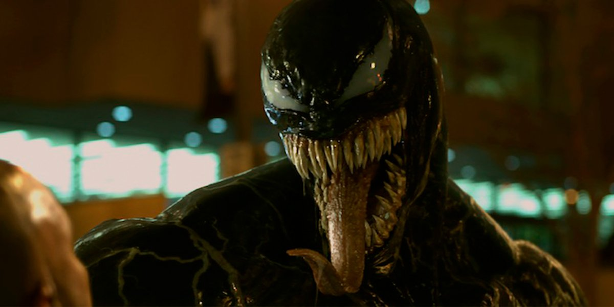 Venom about to eat someone's head