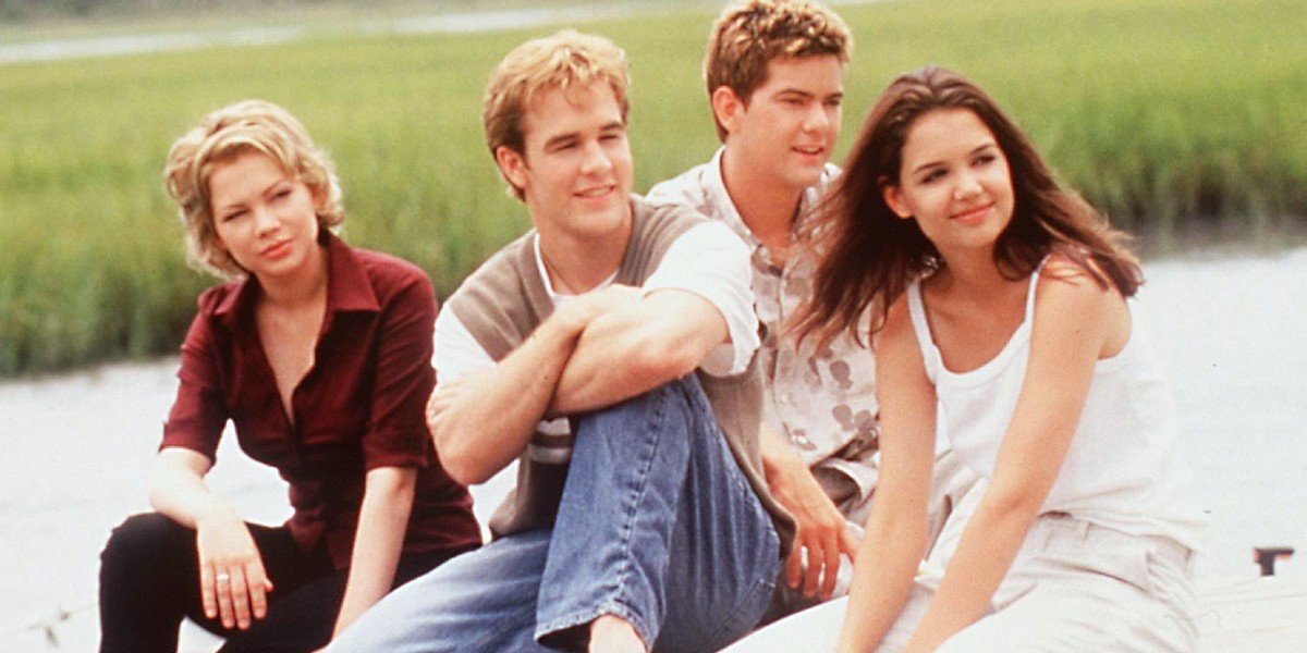 Michelle Williams, James Van Der Beek, Joshua Jackson, and Katie Holmes in Dawson's Creek