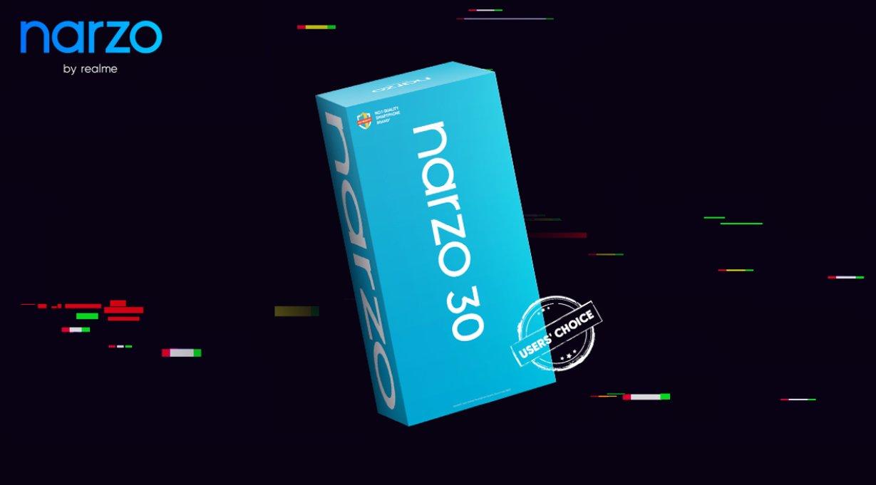 Realme Narzo 30 box