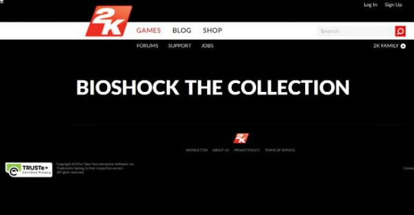 BioShock: The Collection Screens Leak Via 2K's Website