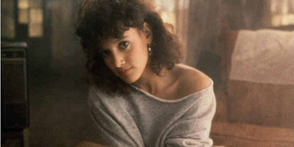 Jennifer Beals Flashdance Sweater Pose