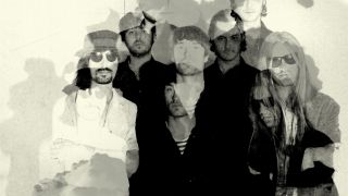 The Coral black and white arty band shot