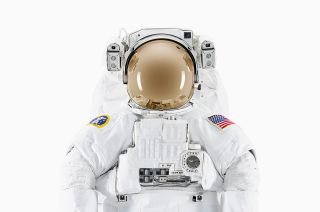 """Extravehicular Mobility Unit (EMU) spacesuit at Johnson Space Center, from photographer Benedict Redgrove's new book """"NASA: Past and Present Dreams of the Future."""""""
