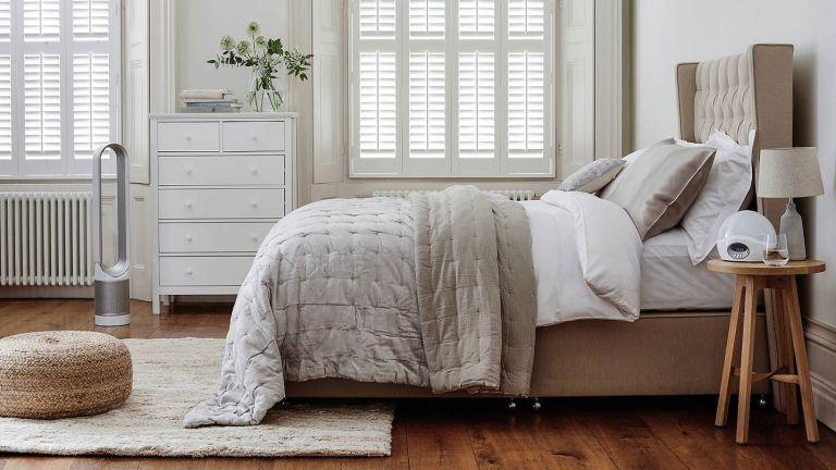 John Lewis sale: bedroom set up in grey