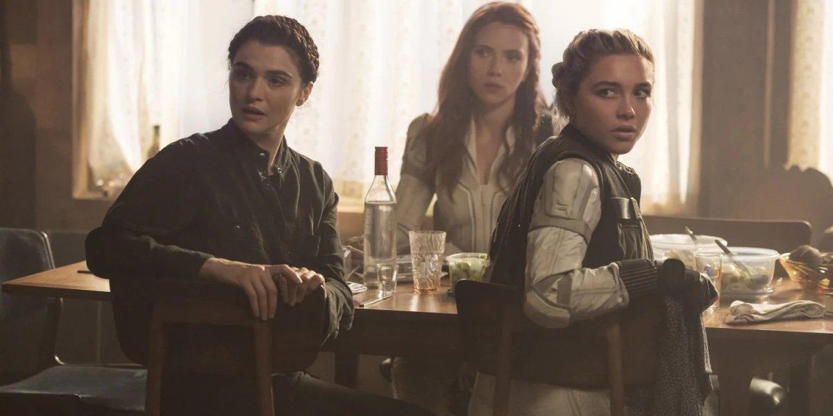 Melina, Natasha and Yelena in Black Widow