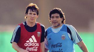 Diego Maradona and Lionel Messi