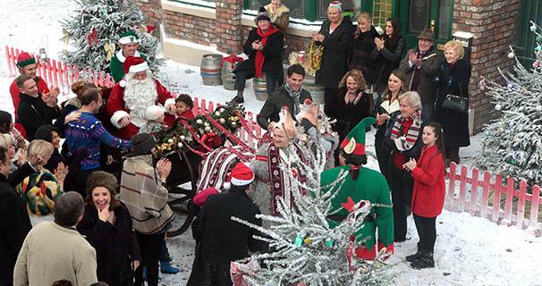 Prueba de Navidad en Coronation Street