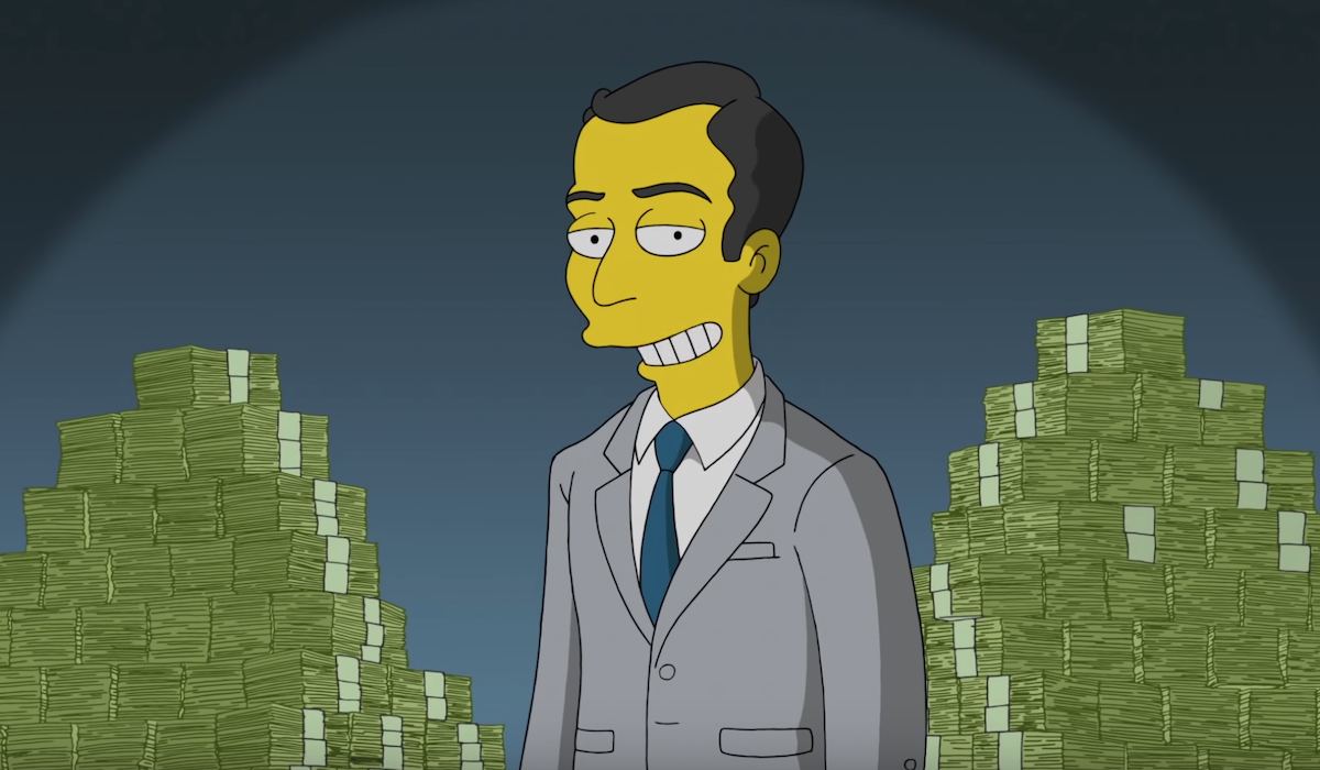the simpsons jim parsons stacks of cash